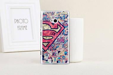 Оригинальный чехол для Nokia Lumia 720 с картинкой super man вырезки газет