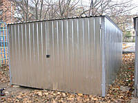 Металлический сборный гараж с односкатной крышей
