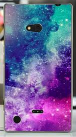 Силиконовый бампер для Nokia Lumia 720 с рисунком космос