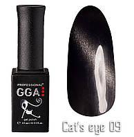 Гель лак GGA Professional Cat's Eye 09 Кошачий Глаз