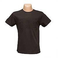 Молодежная черная футболка 3Д 100% хлопок пр-во Турция 5392-3