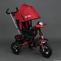 Трехколесный велосипед Best Trike 6590 с Фарой и Большими надувными колесами. Красный