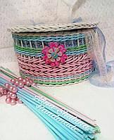 """Шкатулка плетеная """"Нежность"""" для бижутерии или косметики"""