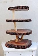 Декоративные полочки из натурального дерева, ручной работы