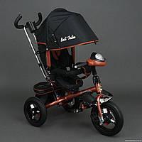Трехколесный велосипед Best Trike 6590 с Фарой и Большими надувными колесами.Бронзовый
