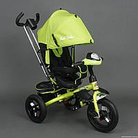 Трехколесный велосипед Best Trike 6590 с Фарой и Большими надувными колесами. Салатовый