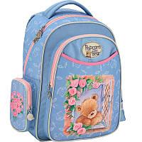 Красивый рюкзак для девочки на 14л. Kite 511 PO; PO17-511S, голубой