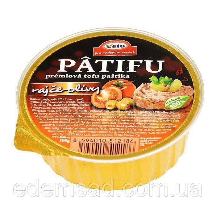 """Паштет из тофу """"С томатами и оливками"""" PATIFU, 100г"""