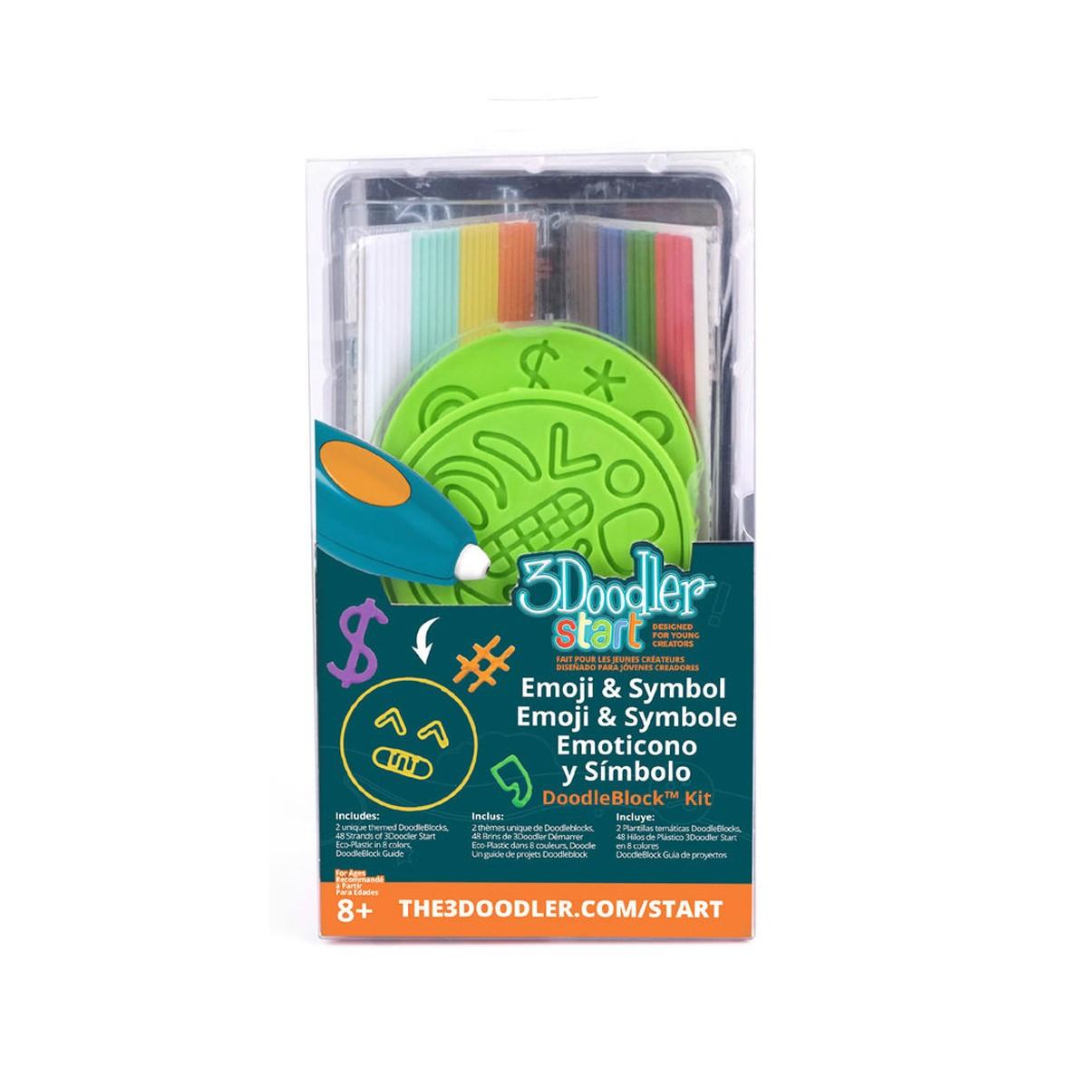 Набор аксессуаров для 3D-ручки 3Doodler Start - ЭМОДЖИ 3DS-DBK-SY