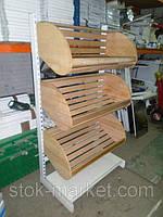 Торговый хлебный стеллаж б/у, стеллажи б.у, фото 1