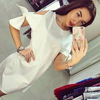 Коттоновое белое платье