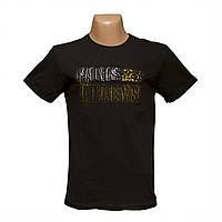 Молодежная черная футболка 3Д рисунок напыление пр-во Турция 5402