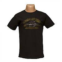 Молодежная черная футболка 3Д рисунок пр-во Турция 5406