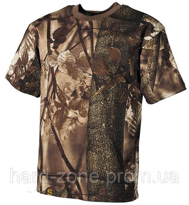 """Камуфлированная футболка (Hunter brown) - интернет-магазин """"hard zone"""" в Запорожье"""