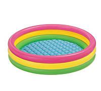 Детский надувной бассейн Intex 57412 «Радужный», 114 х 25 см