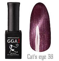 Гель лак GGA Cat's Eye 38 Кошачий Глаз 10 мл