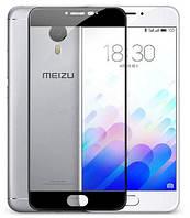Защитное стекло 3D для Meizu M3 Note черный