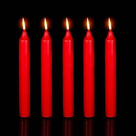 Свечи столовые Кандэла Красные 19 см 40 шт/уп