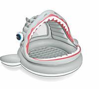 Детский надувной бассейн Intex 57120 «Акула», 201 х 198 х 109 см