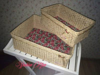 Плетеные короба для хранения вещей в ассортименте