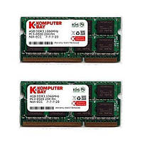 Память Komputerbay 8GB (2x 4GB) DDR3 SODIMM (204 pin) 1066Mhz PC3-8500 (7-7-7-20) Memory for Apple Macbook Pro