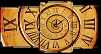 Часы-Модульная картина 444 спираль времени