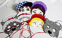 Набор карнавальных масок Красная Шапочка для детских ролевых игр.