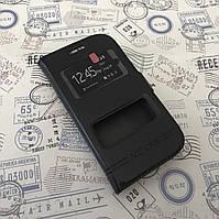 Кожаный чехол книжка для Samsung Galaxy Star Plus Duos S7262 чёрный