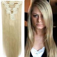 Волосы на заколках 16/613 пепельный  блонд