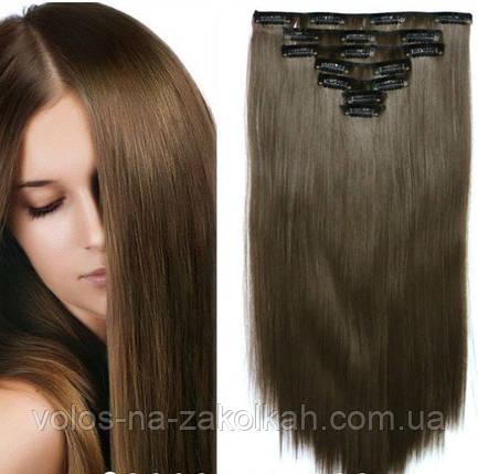 Волосы на заколках цвет №8A  пепельно-русый, фото 2