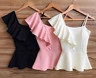 Стильная летняя блуза, белая