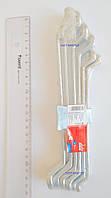 Ключи накидные изогнутые 6-17 мм, набор 6 шт.
