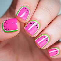 "Яркий дизайн ногтей, мастер-класс ""Сочный арбуз"""