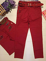 Брюки для Мальчика Красные  Рост 122-128 см