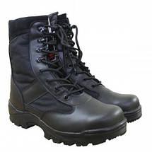 Берцы (ботинки с высокими берцами) кожа MIL-TEC Security Охрана стальной подносок Thinsulate черные, фото 2