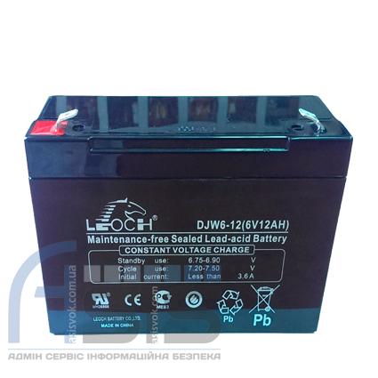Аккумулятор Leoch DJW 1,3А, 12 Вт, фото 2