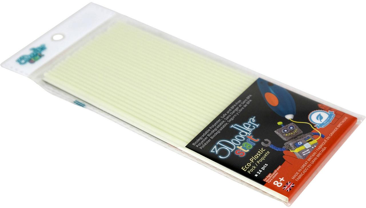 Набор стержней для 3D-ручки 3Doodler Start - СВЕТЯЩИЕСЯ В ТЕМНОТЕ 3DS-ECO09-GLOW-24