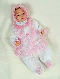 """Летний подарочный набор для девочки """"Мальвина"""" белый с розовым, фото 2"""