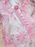 """Летний подарочный набор для девочки """"Мальвина"""" белый с розовым, фото 3"""
