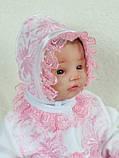 """Летний подарочный набор для девочки """"Мальвина"""" белый с розовым, фото 4"""