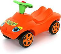 """Каталка """"Мой любимый автомобиль"""" оранжевая со звуковым сигналом"""