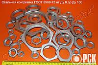 Контргайка ГОСТ 8968-75  стальная, шестигранная
