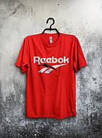Футболка мужская Reebok Рибок красная (большой принт)