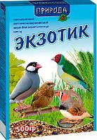 Корм «Экзотик» для канареек, амадин и птиц семейства ткачиковые Природа 0,5 кг