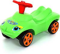 """Каталка """"Мой любимый автомобиль"""" зеленая со звуковым сигналом"""