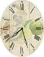 Красивые овальные настенные часы