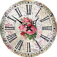 Часы круглые настенные Розы