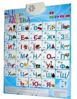 Интерактивная говорящий сенсорній  плакат Азбука украинская