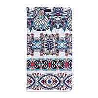 Чехол книжка для LG K10 2017 M250 боковой с отсеком для визиток, Арабский орнамент