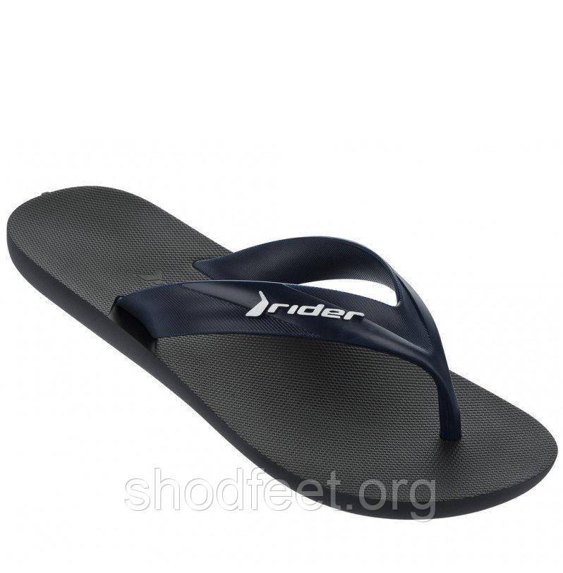 Мужские вьетнамки Rider Strike Black\Blue 81666-23876